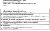 """Fortbildungscurricuculum """"Hygienebeauftragter Arzt"""""""