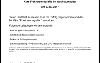 Eine Fortbildung mit Zertifikat Fraktursonografie I