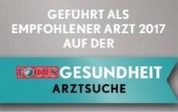 FOCUS-Siegel: Empfohlener Arzt im Landkreis Deggendorf